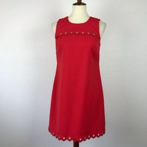 J. Crew Grommet Scalloped Shift Dress